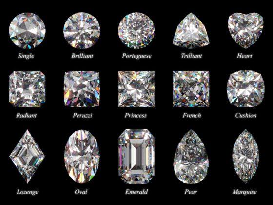 alcuni tagli di diamanti