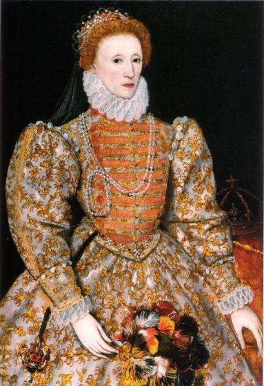 ritratto di elisabetta I tudor con perle