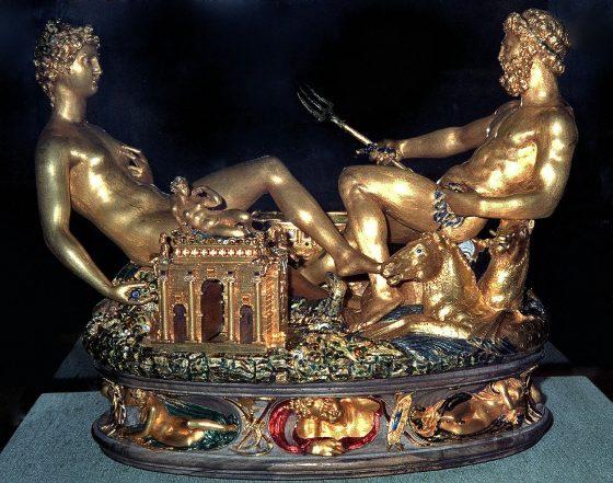 saliera in oro di francesco i creata da benvenuto cellini