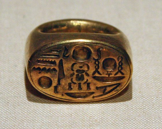 anello chevalier egizi