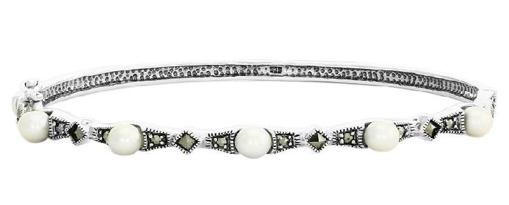 Perla barocca bracciale argento