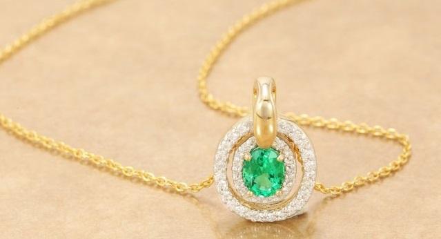 Gioielli di design: Collana in Oro con Smeraldo Lance Fischer