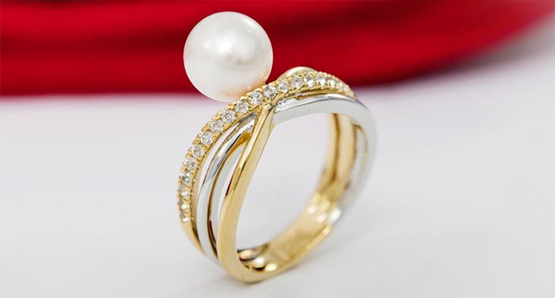 Perle Akoya gioielli-Juwelo-anello